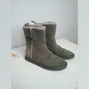 American Eagle Gray Faux Suede Boots Size 9